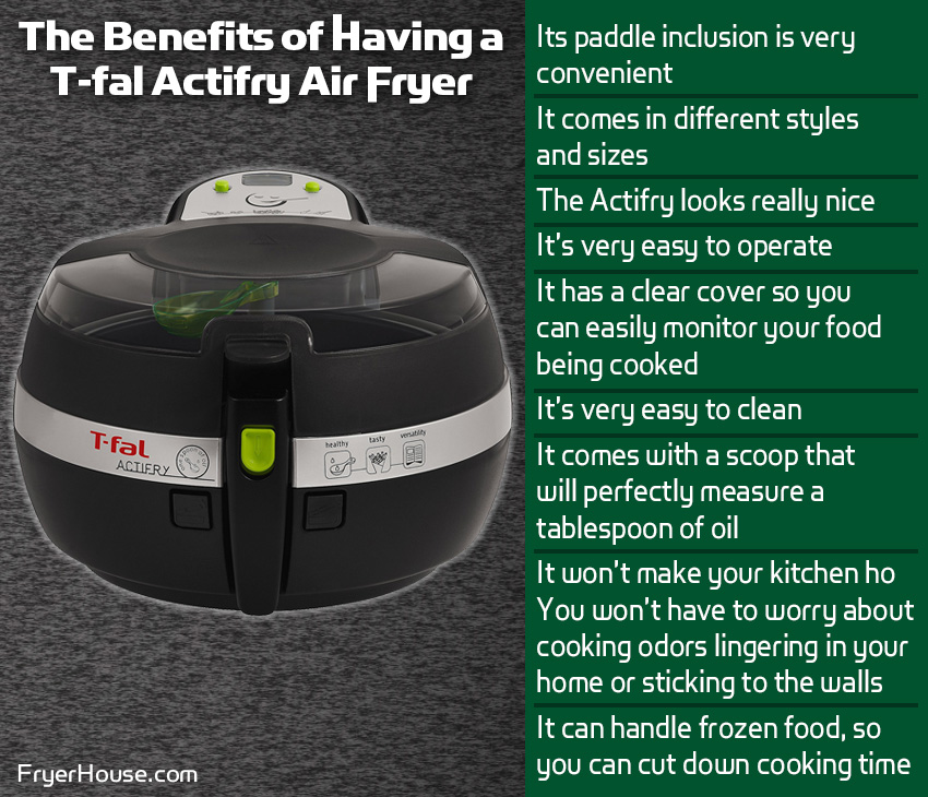 Benefits of Having a T-fal Actifry Air Fryer