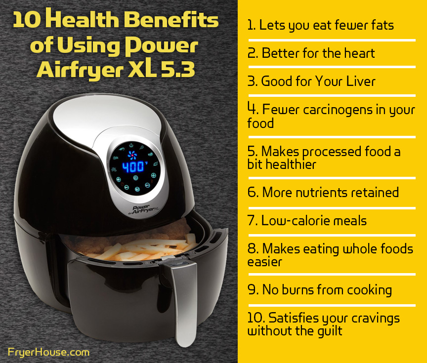 Health Benefits of Power Air Fryer XL 5.3