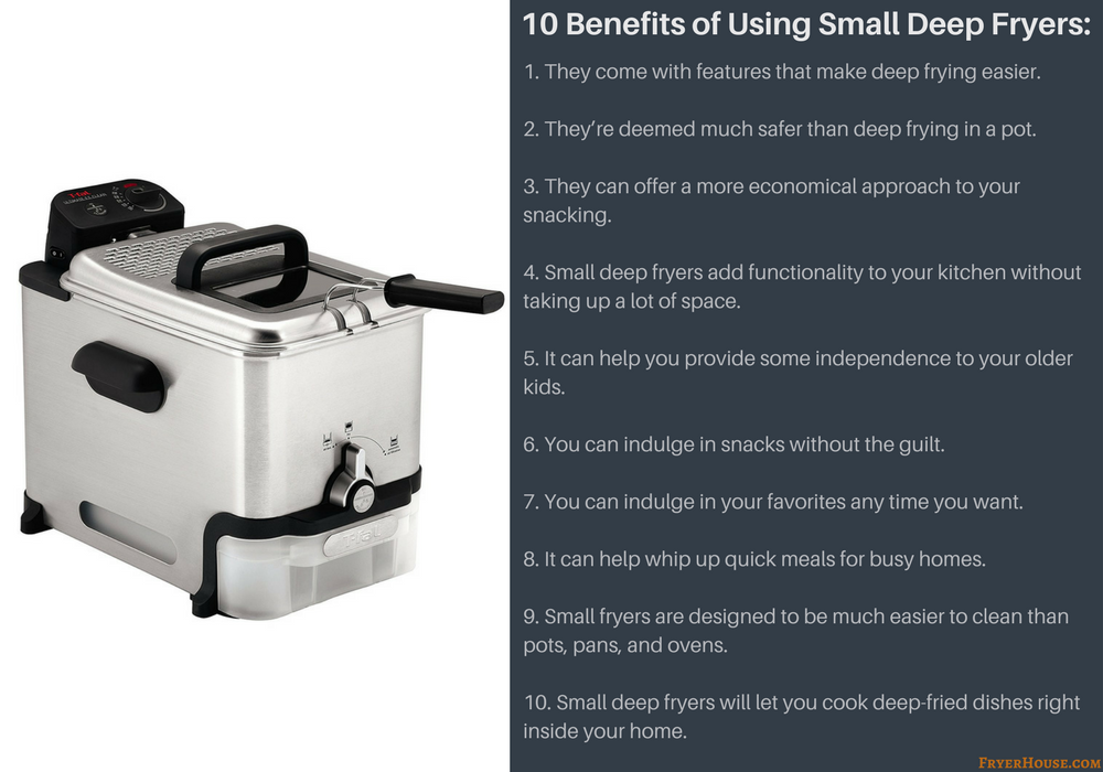 10 Benefits of Using Small Deep Fryers