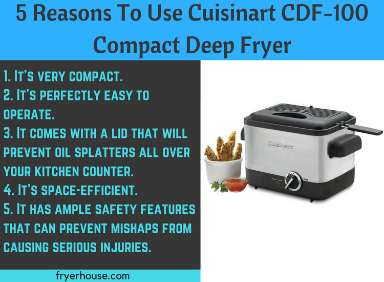5 Reasons To Use Cuisinart CDF-100 Compact Deep Fryer