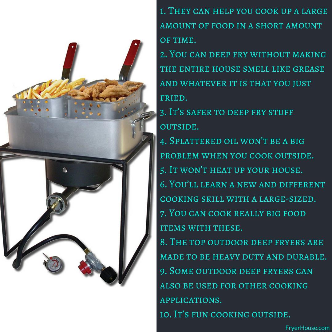 10 Benefits of Using the Outdoor Deep Fryers