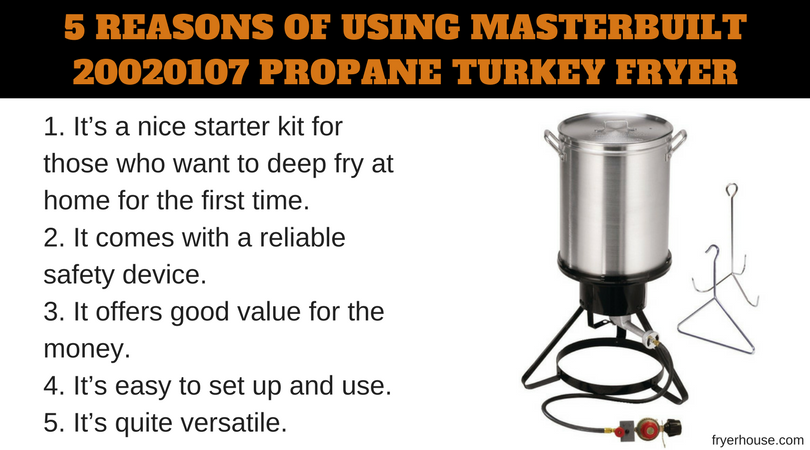 5 REASONS OF USING MASTERBUILT 20020107 TURKEY FRYER