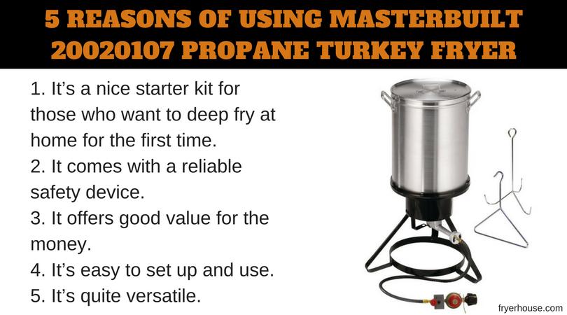5 REASONS OF USING MASTERBUILT 20020107 TURKEY FRYER