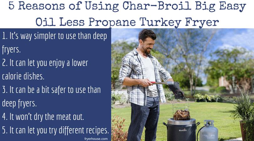 5 Reasons of Using Char-Broil Big Easy Oil Less Propane Turkey Fryer