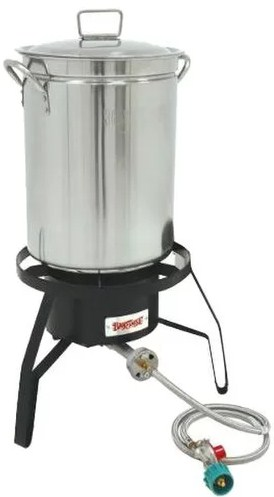 Bayou Classic 1118 32 Quart Stainless Steel Turkey Fryer