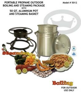 King Kooker 5012 Portable Propane Outdoor Boiling and Steaming Cookers