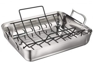 Calphalon Contemporary 16-Inch Stainless Steel Roasting Pan