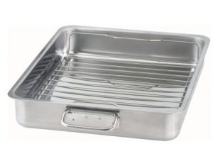 IKEA - KONCIS Stainless Steel Roasting Pan with Grill Rack