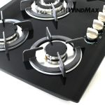 WindMax 30 inch Tempered Glass 5 Burner Gas Cooktop