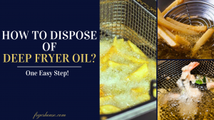 how to dispose of deep fryer oil