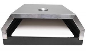 Zenvida Grill Top Pizza Oven with Stone for Gas