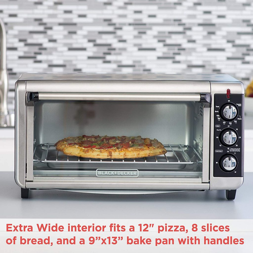 BLACK+DECKER Pizza Toaster Oven,