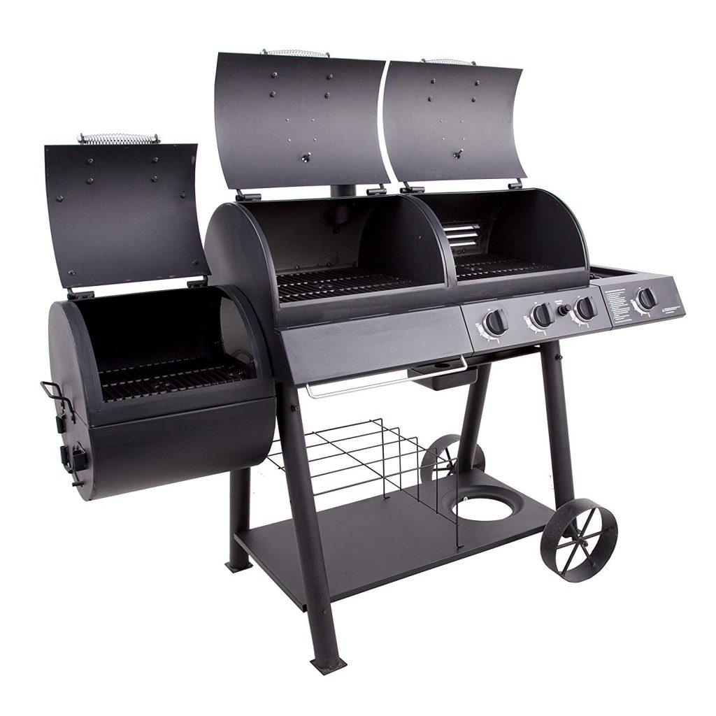 Oklahoma Joe's Charcoal LP Gas Smokers Combo