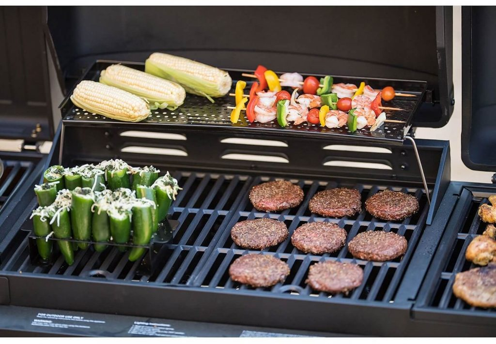 Smoke Hollow 4-in-1 LP Gas Charcoal Smokers