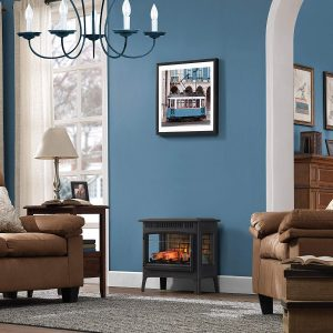 Duraflame Black Freestanding Electric Fireplace