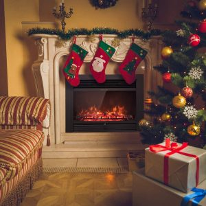 """Giantex 28.5"""" Electric Fireplace Insert with Heater"""