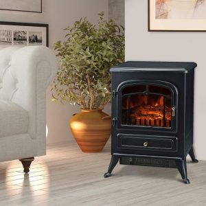 HomCom Freestanding Electric Fireplace