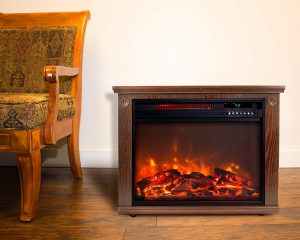 Life smart Freestanding Electric Fireplace Heater