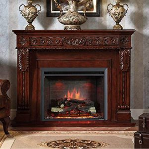PuraFlame 26 Inches Western Electric Fireplace Insert with Heater