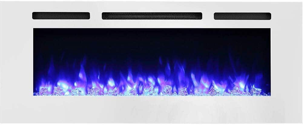PuraFlame Alice 50 Inch Recessed Electric Fireplace