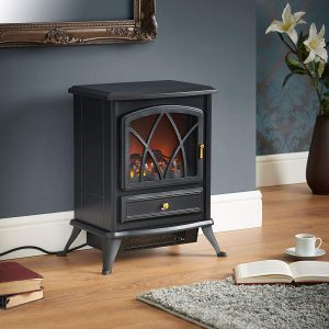 VonHaus Electric Stove Heater Fireplace
