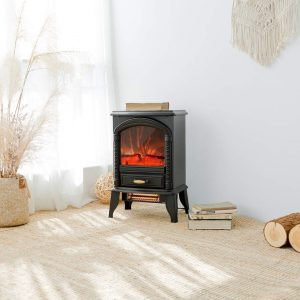 FLAME&SHADE Portable Electric Fireplace