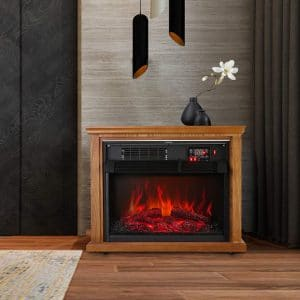 KOOLWOOM Portable Electric Fireplace Stove Heater