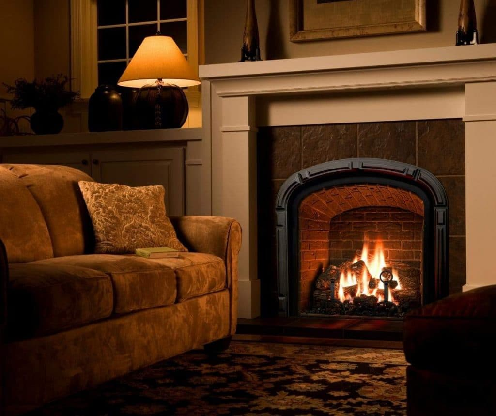 Natural Glo Large Vented Gas Fireplace Logs