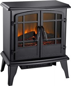 "Pleasant Hearth 20"" Electric Stove-Matte, 1350 watt"