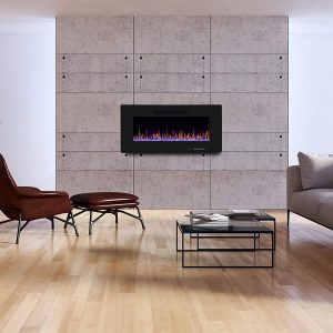 R.W.FLAME 36 Linear Electric Fireplace