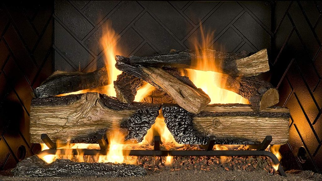 Sure Heat CS30DBNG Country Split Oak Dual Burner