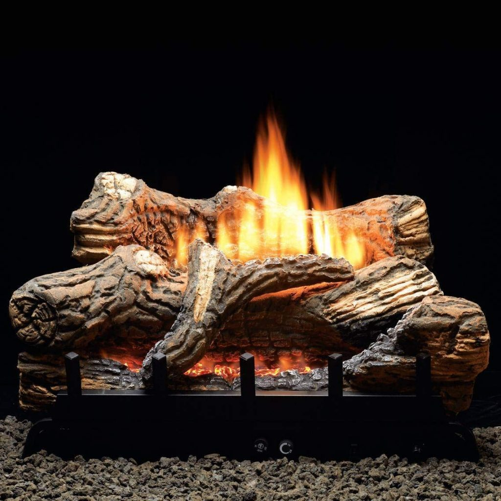 Thermostat 5-piece 24 inch Ceramic Fiber Log Set