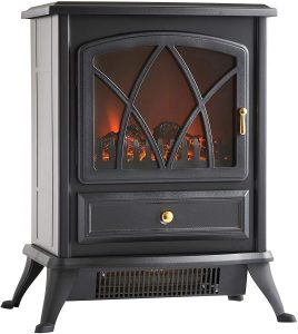 VonHaus Portable Home Fireplace, 1500W