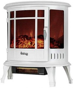 e-Flame USA Electric Fireplace Stove, 5115 BTU