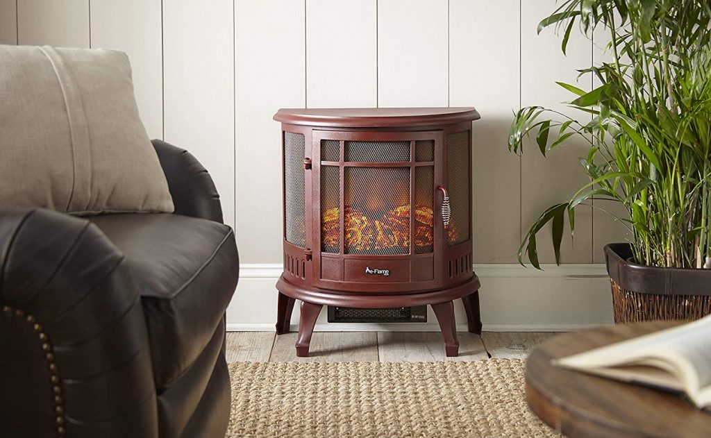 e-Flame USA Regal Free Portable Electric Fireplace (Red)