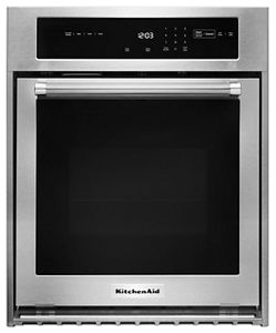 """KitchenAid 24"""" Single Wall Oven with True Convection"""