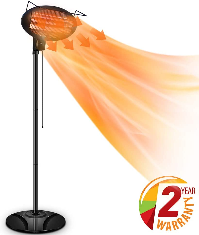 Air Choice Outdoor Heater, Electric Halogen Patio Heater