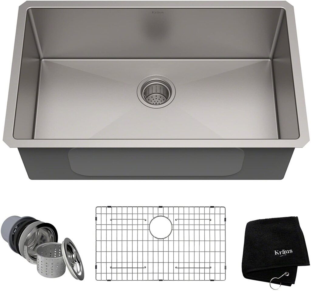 Best Single Bowl Undermount Kitchen Sink Kraus KHU100-30