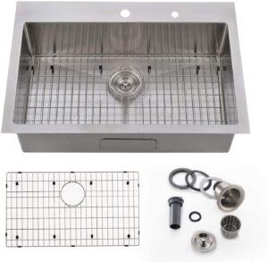 Bokaiya 33x 22 Inch Topmount Kitchen Sink