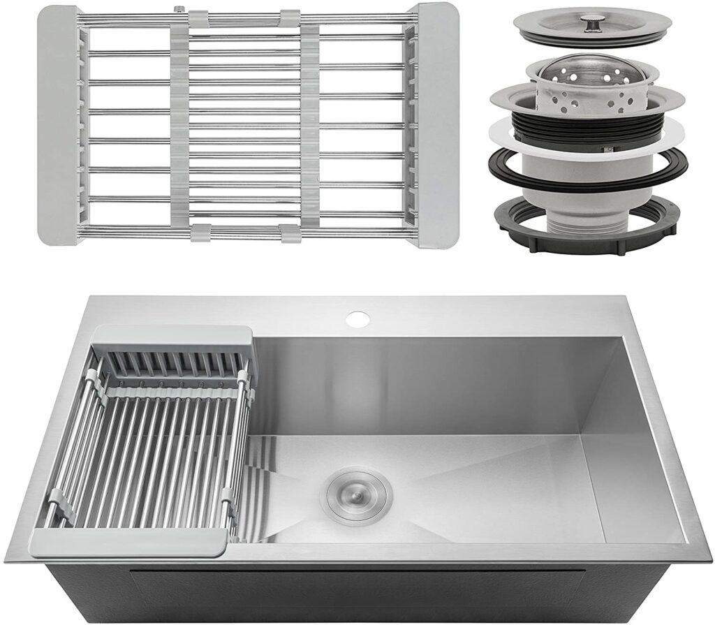 Firebird 33 x 22 x 9 Single Bowl Kitchen Sink