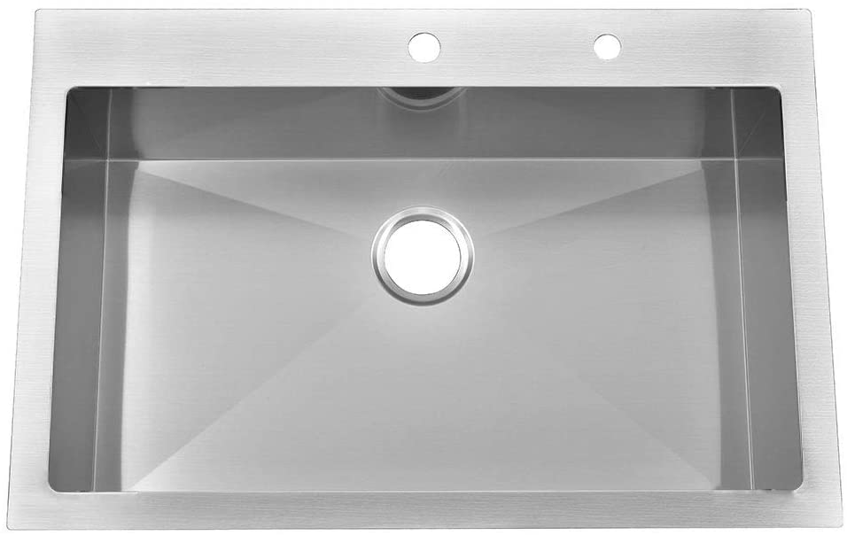 KINGO HOME Commercial 33x 22 Single Bowl Kitchen Sink
