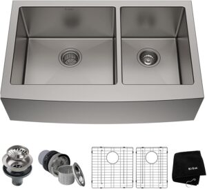 Kraus KHF203-36 Double Dowl Kitchen Stainless Steel Sink