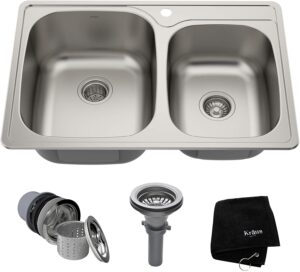 Kraus KTM32 Stainless Steel Under-mount Kitchen Sinks for Quartz Countertops