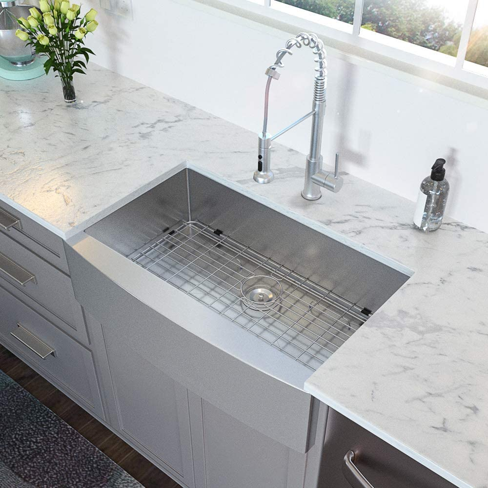 LORDEAR 30 Inch Single Bowl Stainless Steel Kitchen Sink