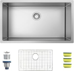 MENSARJOR 32 x 19 Single Bowl Kitchen Sink