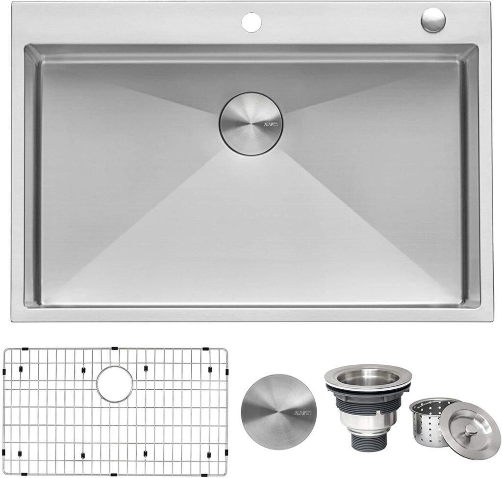 Ruvati 33 x 22 inch - Best Drop-In Stainless Steel Kitchen Sink