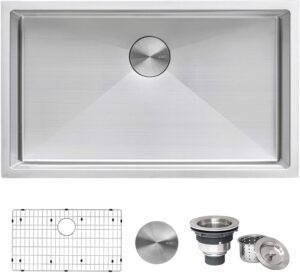 Ruvati RVH7300 30-inch Undermount Stainless Steel Kitchen Sink