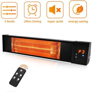 TRUSTECH 1500W Infrared Red Tube Space Heater