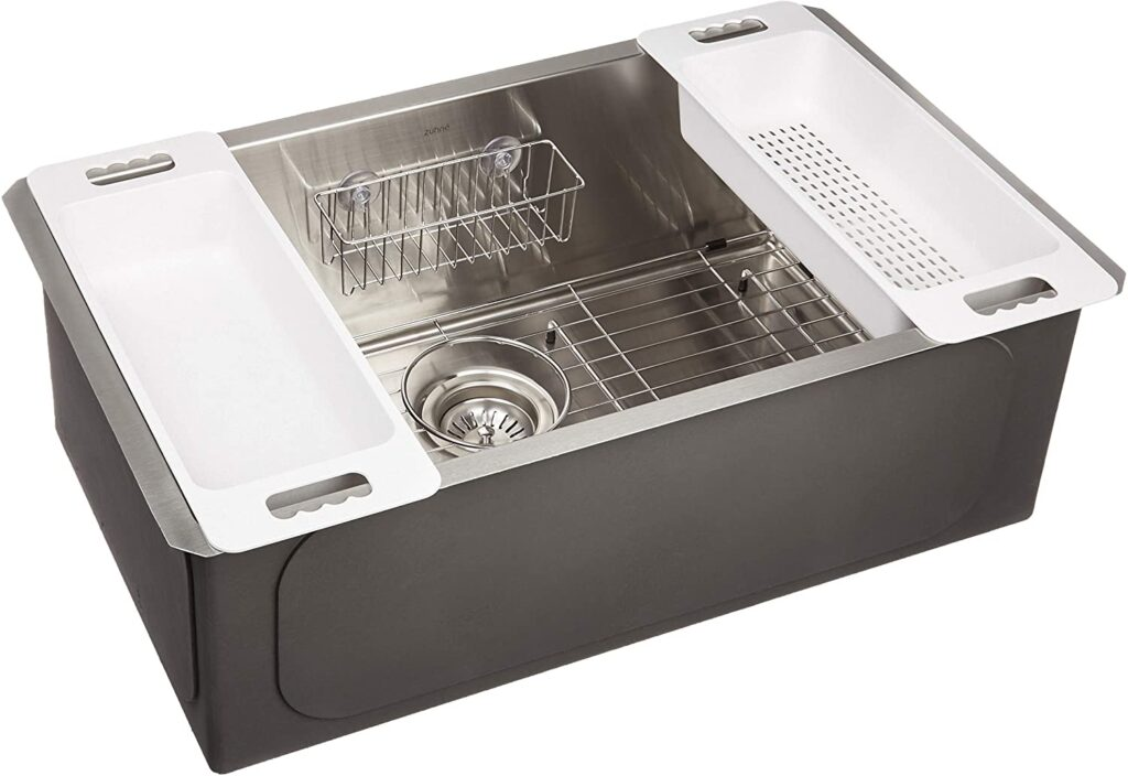 ZUHNE Modena 30 Inch Undermount Stainless Steel Kitchen Sink