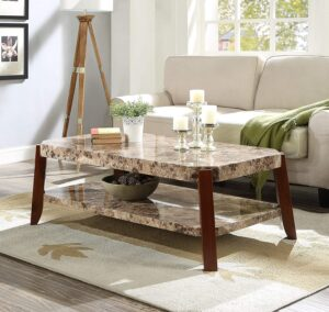 Acme Furniture Faux Marble Coffee Table